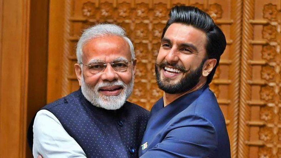 Ranveer Singh gives 'Jaadoo ki Jhappi' to PM Narendra Modi—Pic