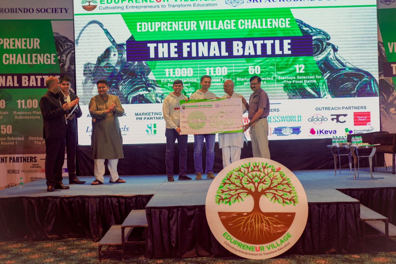 Edupreneur Village Fund hosts the Edupreneur Village Challenge Finale: The Final Battle,successfully in Delhi, with 50+ Investors and 350+ Attendees