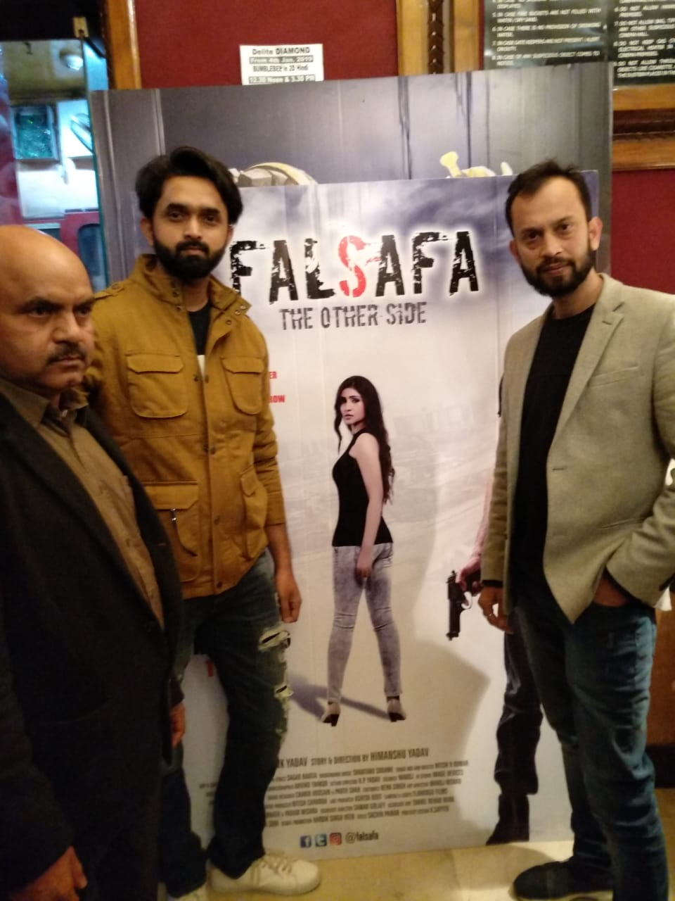 Falsafa star cast in Nations Capital for the Red Carpet Premiere