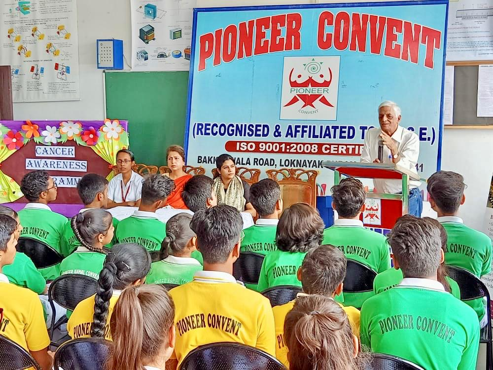 Cancer awareness campaign- health talk at  pioneer convent