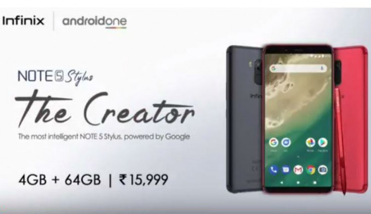 Infinix Note 5 Stylus Android One phone launched in India for Rs 15,999